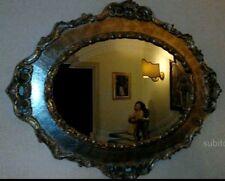 Specchiera in legno oro e argento