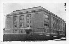 Springville New York High School Exterior Street View Antique Postcard K32373
