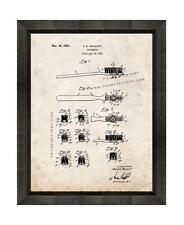 Toothbrush Patent Print Old Look in a Beveled Black Wood Frame