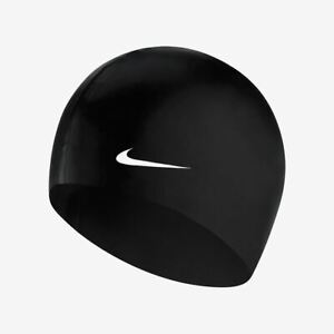 Nike Swim Performance Nike Solid Silicone Cap - Silicone Swimming Hat - Black