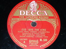 JAZZ 78 rpm RECORD Decca BOYD NEEL STRING ORCHESTRA God save the King