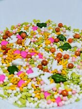 Edible Sprinkles Mixed blended Cupcake Topping Decor