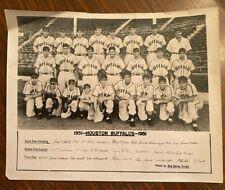 "Vintage Houston Buffalos 1951 Team Photo Minor League Baseball 8"" X 10"" Glossy"