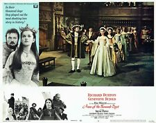 ANNE OF THE THOUSAND DAYS orig 1969 Lobby Card, GENEVIEVE BUJOLD, Richard BURTON