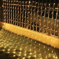 1.5*1.5M /3M*2M Fairy String Net Curtain Mesh LED Xmas Party Ceiling Lights Gift
