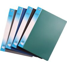 A4 Document Certificate Display Folder With 20 Plastic Transparent Pockets