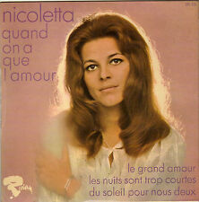 NICOLETTA QUAND ON A QUE L'AMOUR (BREL) FRENCH ORIG EP JEAN BOUCHETY