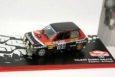 Prensa Ixo Rallye Monte Carlo 1/43 - Talbot Samba Rallye 1983