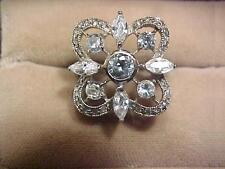 Fashion Design Square Cubic Zirconia Sterling Silver 925 Ring
