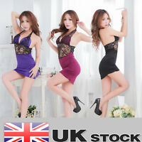 HOt!!! Womens Sexy Backless Lingerie Babydoll Underwear Sleepwear+G-string