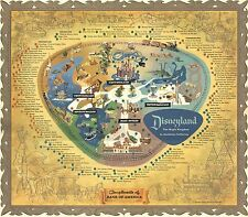 1956 Disneyland Map REPRODUCTION POSTER 24 X 36 Inches Looks beautiful