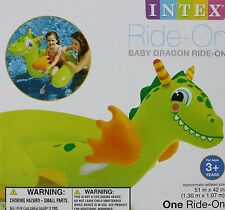 Intex Baby Dragon Ride On 51x42 Ages 3 + Durable Handles NIB