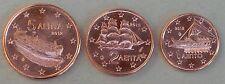 1+2+5 Euro Cent Griechenland 2012 unz