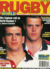 RUGBY WORLD MAGAZINE OCTOBER 1993 - HAWICK, NEWCASTLE GOSFORTH, RUSKIN PARK