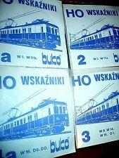 HO Signal - Streckentafeln Streckenzeichen PKP polnisch WSKAZNIKI BUKO 2 2a 3 4a