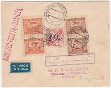 1928 POLAND LOPP PARAMILITARY AIR LABEL AVIATION PLANE GAS CHARITY COVER LEMBERG