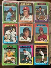 1975 Topps Baseball Set Break #'s 441-660
