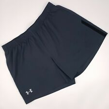 """Under Armour XL Gray Shorts Mesh Brief Liner Mens Size 1289312 UA Launch SW 5"""""""
