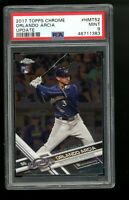 2017 Topps Chrome Update #HMT52 Orlando Arcia Brewers RC Rookie Card PSA 9
