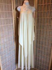 vintage 70's hippie boho festival wedding crochet maxi dress S M