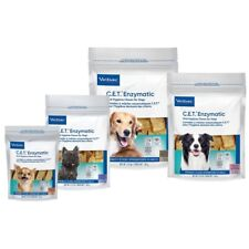 CET Enzymatic Oral Hygiene Chews for Dogs 2-PACK (60 Ct) - ALL SIZES- NEW!