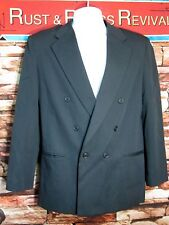 MICHAEL JAMES Black Youth Blazer Sport Suit Jacket 20 REG DOUBLE BREASTED