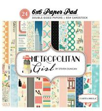 Carta Bella METROPOLITAN GIRL 6x6 Paper Pad 24pc City Fashion Shopping Echo Park