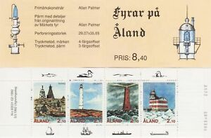 Aland Lighthouses Gulf Of Finland Aland Island Mint MNH Stamp Booklet 1992