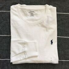NWT Polo Ralph Lauren Mens Long Sleeved T-Shirt Tee S M L XL Crew Neck Tee white