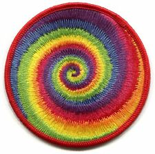 TIE DYE swirl/spiral EMBROIDERED IRON-ON PATCH *Free Shipping p4395 hippie peace