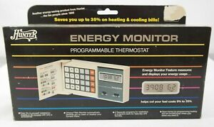 Vintage Hunter Energy Monitor Programmable Thermostat 42201  T5