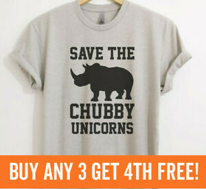 Save The Chubby Unicorns T-shirt, Funny Animal Shirt, Cute Quote, Unisex XS-XXL