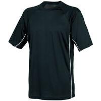 Mens Tombo sports gym training Team top T shirt Black Size small & XXL