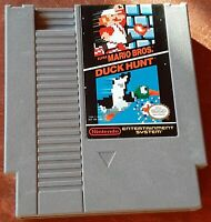 Super Mario Bros./Duck Hunt Nintendo NES loose game cart, cleaned & tested