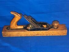 Antique STS Siegley Wood Block Plane Brass Adjustable w/ Blade