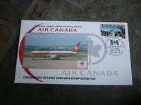 2004 HONG KONG STAMP EXPO COVER, CANADA EXPO PM, AIR CANADA COVER 3