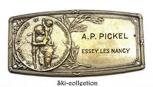 Plaque de Véhicule Ancienne, St.Christophe Patron des Voyageurs. France. 1930