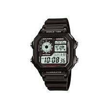 Casio Ae-1200wh-1av Watch 10 Year Battery 4 World Time Zones 5 Alarms