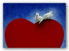 Lovey Dovey Will Bullas Bird Art Print 11x14