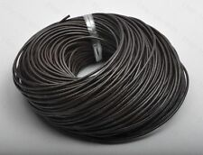 1METER 2MM BLACK COLOR GENUINE COWHIDE THREAD LEATHER CORD