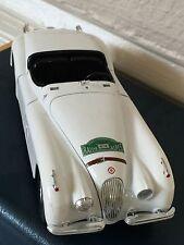 "Jaguar XK 120 (1948) Scholar Burago RALLYE ALPES ""414"" VTG Metal Car Italy Toy"