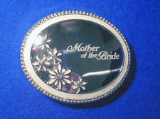 Mother of the Bride - Silver Plate/Enamel Compact Mirror.