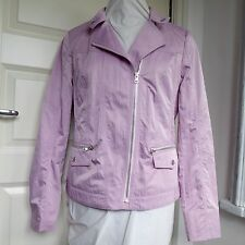 KIRSTEN Showerproof Jacket Lightweight Biker Style Lilac Rain Coat *BNWT* 12