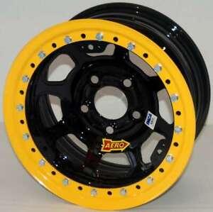 Aero Race Wheels - 53-Series - 15x8 - 4in BS - 5x4.75 - Beadlock - Steel - Black