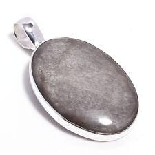Black Obsidian Stone Gemstone 925 Sterling Silver Jewelry Pendant 2 7462