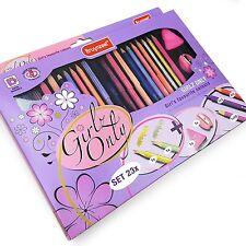 Bruynzeel - Girlz Only Colouring Set - Pencils/Fibre Tip Pens/Eraser/Sharpener