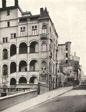 RHÔNE. Vieux Lyon. La Montée Saint- barthélemy 1900 old antique print picture