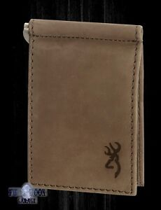 New Browning Cowboy Leather Mens Passport Wallet