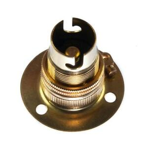 12v 5amp Batten Lamp Holder Brass With Earth Small Bayonet Cap (SBC) (B15d)