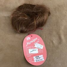 10 - 11  Bebe Monique Auburn wig Doll making hair parts baby short red
